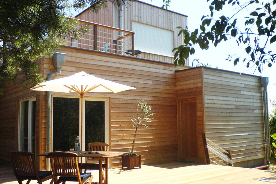 R alisations de maisons voegel consctructions de maison passive bioclimatiq - Maison en bois basse consommation ...