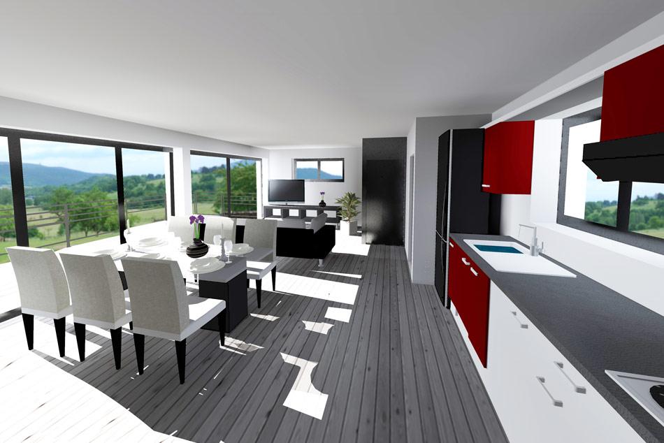 interieur maison toit plat. Black Bedroom Furniture Sets. Home Design Ideas