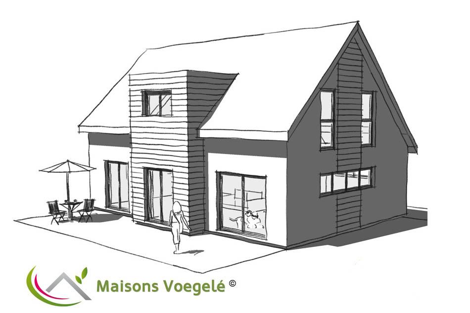 constructeur maison contemporaine toit plat avec pasio - Constructeur Maison Contemporaine Toit Plat Avec Pasio
